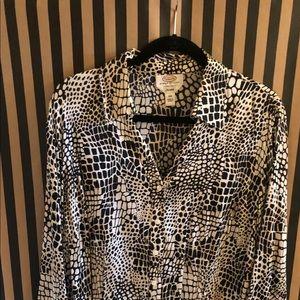 Woman's petite silk blouse